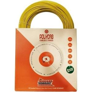 Polycab 10 Sqmm 200m Yellow Single Core FRLF Multistrand PVC Insulated Unsheathed Industrial Cable
