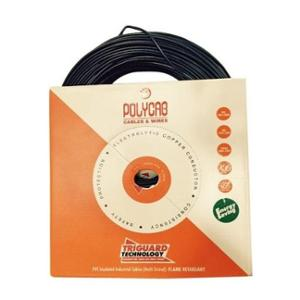 Polycab 10 Sqmm 200m Black Single Core FRLS-H Multistrand PVC Insulated Unsheathed Industrial Cable