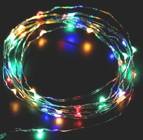 Tucasa 3m Battery Operated Multicolour Led Copper Wire String Light Dw 414