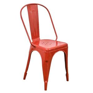 Casa Decor Red Tempest Metal Chair for Bars & Kitchens, CDCHR0001