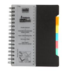 Solo 300 Pages Assorted 5 Subjects Note Book, NA556, Size: A5 (Pack of 2)
