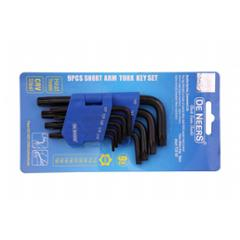 De Neers DNKTH9S 9 Pcs Regular Torx Allen Key Set