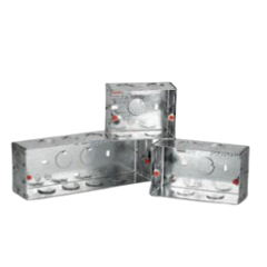 Polycab Levana 8 Module Square Concealed Metal Box, SMB0100077