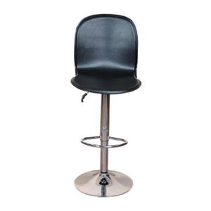 Divano Modular Leatherette Black Adjustable Bar Stool, DMB41