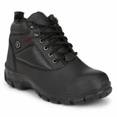 Timberwood TW22BLK PU Steel Toe Black Safety Shoes, Size: 6