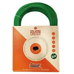 Polycab 6 Sqmm 200m Green Single Core FRLF Multistrand PVC Insulated Unsheathed Industrial Cable
