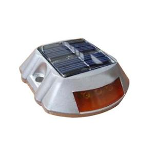 KTI Aluminium Alloy Red Reflector & PC Solar Stud without Shank, KT181602610714 (Pack of 5)