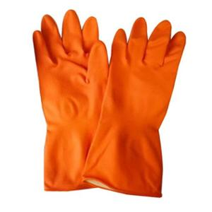 Sensuous Orange Rubber Hand Gloves (Pack of 12)