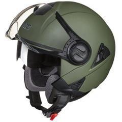 Studds Downtown Military Green Open Face Helmet, Size (XL, 600mm)