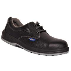 Allen Cooper AC 1143 Antistatic Black Safety Shoes, Size: 5