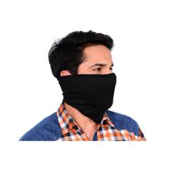 Safies Black Spandex Half Face Mask for Driver & Rider (Pack of 6)
