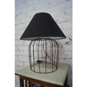 Tucasa Superb Metal Wire Table Lamp with Black Polycotton Shade, TB-06