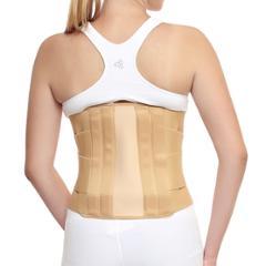 Witzion XL Contoured Lumbar Sacral Beige Back Support Belt, WI-17-BEIGE-XL