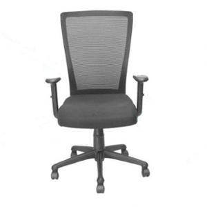 Official Comfort SUNNY-MB Hydraulic Medium Back Black Office Chair with Adjustable Handle, 1009