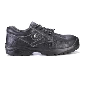 Fuel Commodore L/C Black Leather Steel Toe Safety Shoes, 639-8102, Size: 10
