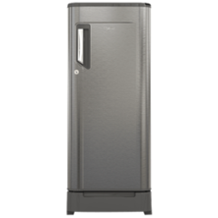 Whirlpool 230 Imfr Roy 4S INV Alpha Steel-E 215 Litre 4 Star Direct Cool Single Door Refrigerator with Pedestal & Base Drawer